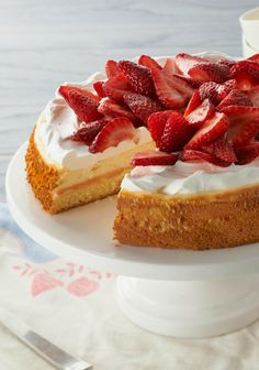 Strawberry Shortcake Cheesecake — Have your shortcake and eat your cheesecake, too! This strawberry-topped dessert recipe has layers of both.