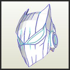 Batman Helmet Free Papercraft Download - http://www.papercraftsquare.com/batman-helmet-free-papercraft-download.html