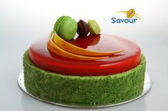 Awesome colourful entremets from Savour School #entremets