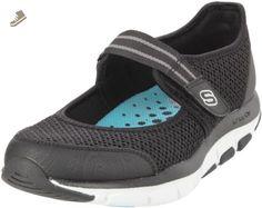 Skechers Sport Women's Happy Sneaker,Black/White,9 M US - Skechers sneakers for women (*Amazon Partner-Link)
