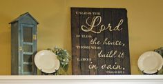 Handmade Wood Sign for Home