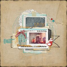 Chalkboard on a scrapbook page by Kayleigh Wiles at Designer Digitals.
