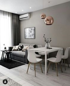 Home Interior Modern .Home Interior Modern Apartment Interior, Living Dining Room, House Interior, Small Living Room Decor, Small Apartment Living, Minimalist Home Interior, Living Room Dining Room Combo, Dining Room Combo, Home Decor Tips