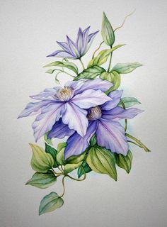 Celebrate Each New Day: Photo Botanical Drawings, Botanical Illustration, Botanical Prints, Watercolor Cards, Watercolor Flowers, Watercolour, Fabric Painting, Painting & Drawing, Flower Prints