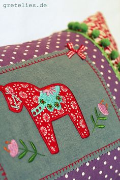 dala horse cushion