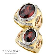 Gold rings with gemstones TCR02986