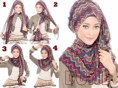 Tutorial Hijab Motif Tribal Buat Kamu yang Ingin Tampil Beda ...