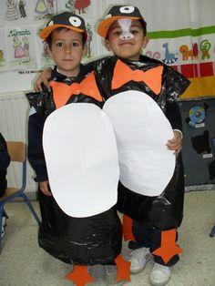 Verkleden als pinguins