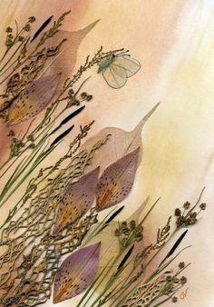 Картины из зашунных цветов.Автор Ольга Вишня.