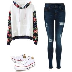 A fashion look from February 2015 featuring Converse sneakers. Browse and shop related looks.