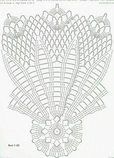 Crochet Table Runner Pattern, Crochet Doily Diagram, Crochet Doily Patterns, Crochet Mandala, Thread Crochet, Filet Crochet, Irish Crochet, Crochet Stitches, Crochet Dreamcatcher