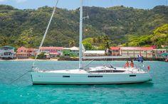 Taking a Break From Sailing off Hillsborough, Carriacou