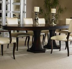 Tribeca  Double Pedestal Dining Table by Century