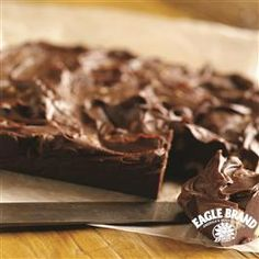 My mom's fudge . That my kids now know as my fudge: easiest ever. Foolproof Chocolate Fudge from Eagle Brand® Fudge Recipes, Candy Recipes, Dessert Recipes, Just Desserts, Delicious Desserts, Yummy Food, Eagle Brand Recipes, Yummy Treats, Sweet Treats