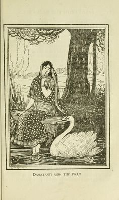 Tales from the Indian Epics by C. A. Kincaid, with six illustrations by M. V. Dhurandhar (1918).  Also available at: Internet Archive, Hathi Trust.  The Churning of the Ocean  / King Janamejaya's Snake Sacrifice  / Nala and Damayanti  / Satyavan and Savitri / The Frog King's Daughter / pages. Veda's Pupil / Vrigu and Agni / Ruru and Pramadvara / The Tale of the Pole Star / The Descent of the Ganges
