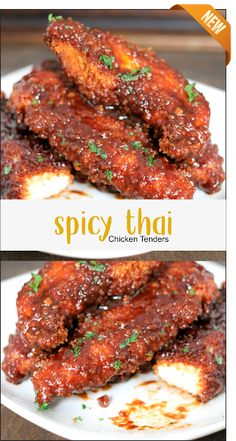 Spicy Thai Chicken Tenders Food recipes of the best choice we present for you. Spicy Recipes, Turkey Recipes, Asian Recipes, Dinner Recipes, Cooking Recipes, Healthy Recipes, Cheap Recipes, Spicy Thai, Asian Cooking