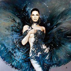 art, canvas, Elegant, Examples, Graphic Art , Karol Bak, painting, Poland, traditional, womans beauty, oil, illustrations,