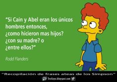 Simpson Tv, Lisa Simpson, Cain Y Abel, Simpsons Cartoon, Carl Sagan, Family Memories, Futurama, Atheism, Religion