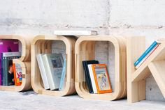 book-alphabet-storage    bent wood letters