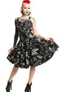Gothic Kleid im Corsagenlook - Anatomy Dress