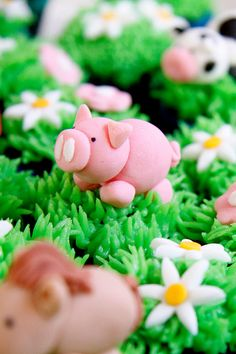 Piggy Cupcakes Close Up