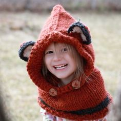 Fox Cowl Hood Hat Photo Prop Photography / What by funkybabyhats