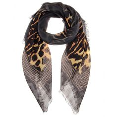 GIVENCHY Wool and silk scarf