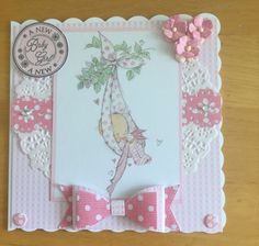 Lili Of The Valley (LOTV) New Baby Girl Handmade Card