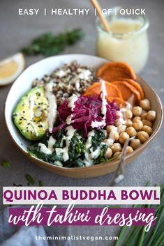 Buddha Bowl, Healthy Dishes, Dinner Menu, Meal Prep, Vegetarian Recipes, Tempeh, Tofu, Lunch, Meals
