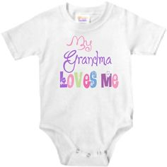 My Grandma loves me  personalized baby onesie by babyonesiesbynany,