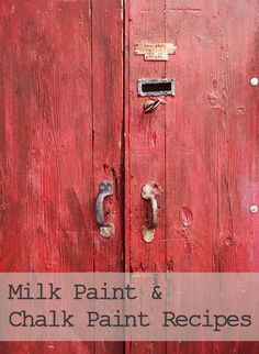 Make your own furniture paint