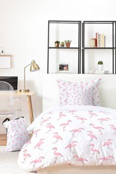 Fantastic Flamingos Bed-in-a-bag | Flamingo print blanket | Wonder Forest