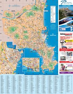 SaintTropez sightseeing map Maps Pinterest Saints France and