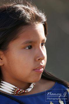 A young Native American Indian portrait profile of a child,  copyright Nancy G. Photography © Nancy Greifenhagen