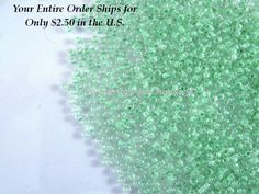 15g TOHO Seed Bead 11/0 Crystal Mint Julep Green Japanese Rocailles 2mm #11 - approx. 1650 - #TR-11-354 by allearringsandsuppli on Etsy