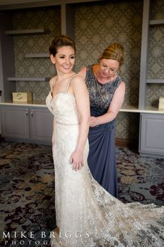 SB Bride Wearing Ines Di Santo Beaded Wedding Dress.