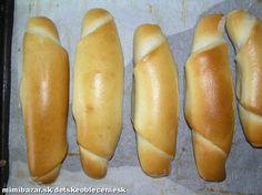 Z droždia , teplého mlieka a lyžičky cukru si spravíme kvások.... Hot Dog Buns, Hot Dogs, Croissant Bread, How To Make Bread, Bread Making, Food And Drink, Baking, Ethnic Recipes, Breads