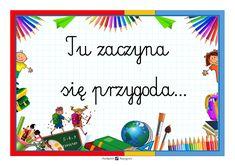 PLAKAT NA DRZWI KLASY powitanie Classroom Board, Arctic Monkeys, Diy And Crafts, Mandala, Education, Children, Fictional Characters, Decor, Art