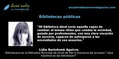 Charla con Lidia Bartolomé sobre bibliotecas públicas #Bibliotecas #quèfemalesbiblios