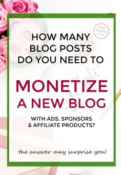 When you first start a blog with a goal to make money from it, how do you know when you can start monetizing? This post explains the blog post benchmarks you need to hit in order to place ads on your blog, start getting sponsorships, and make money from affiliate products. | money making blog ideas, blogging tips, start a blog for extra cash, perfect stay at home mom jobs