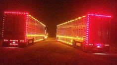 Bull hauler light show