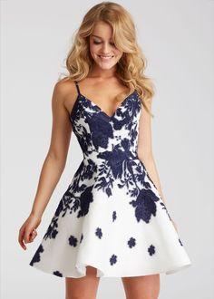 53df375689 Jovani 53204 Lace V-Neck Open Back Party Dress