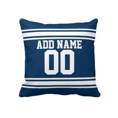 Football Team Jersey with Custom Name Number Pillow Football Team 67f1d2474