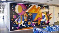 20 incredible murals - Spacehack Mural for Facebook