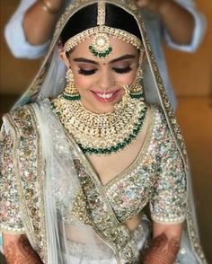 Bridal Jewelry 50 Sabyasachi Bridal Lehenga Royals Indian Weddings - What am I going to wear for my special day? This is one question that every single bride has to face before getting married to the love of her life. Sabyasachi Lehenga Bridal, Indian Bridal Lehenga, Indian Bridal Wear, Indian Wear, Red Indian, Gold Lehenga Bridal, Latest Bridal Lehenga, Pakistani Mehndi, Lehenga Blouse