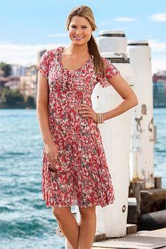 Dresses - Capture Crinkle Dress - EziBuy New Zealand