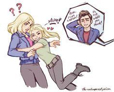 AWW I wondered why she had blond hair - This makes sense!<---ACK MY HEART!