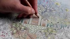 Colouring Secret Garden - Approaching thunderstorm on a summer's day