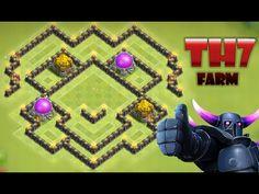 Clash Of Clans - NEW UPDATE - TH7 Farming Base - TH7 Trophy Base | HYBRI...