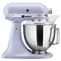 The KitchenAid Artisan model tilt-head stand mixer features a 5-quart metal mixing bowl and 10 mixing speeds. Finished in glossy lavender to express you sense of style, this versatile model is perfect for stirring, mixing, kneading and whipping.